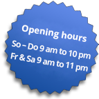 Eye-Catcher: Opening Times